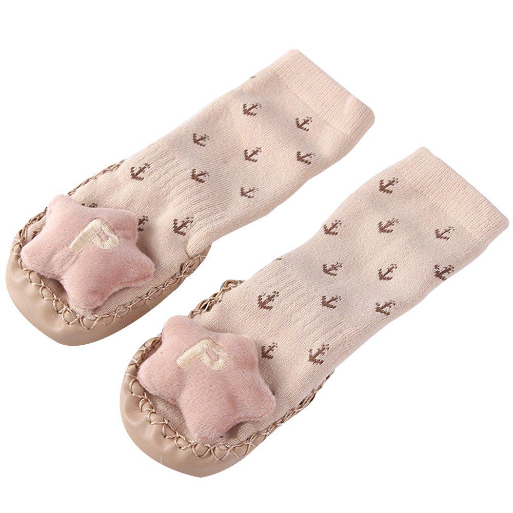 Winter Warm Baby Toddler Anti Slip Non Skid Floor Socks Slipper Cotton Prewalker