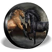 VTIUA Horse Polyester Universal Sunscreen Funda para Rueda