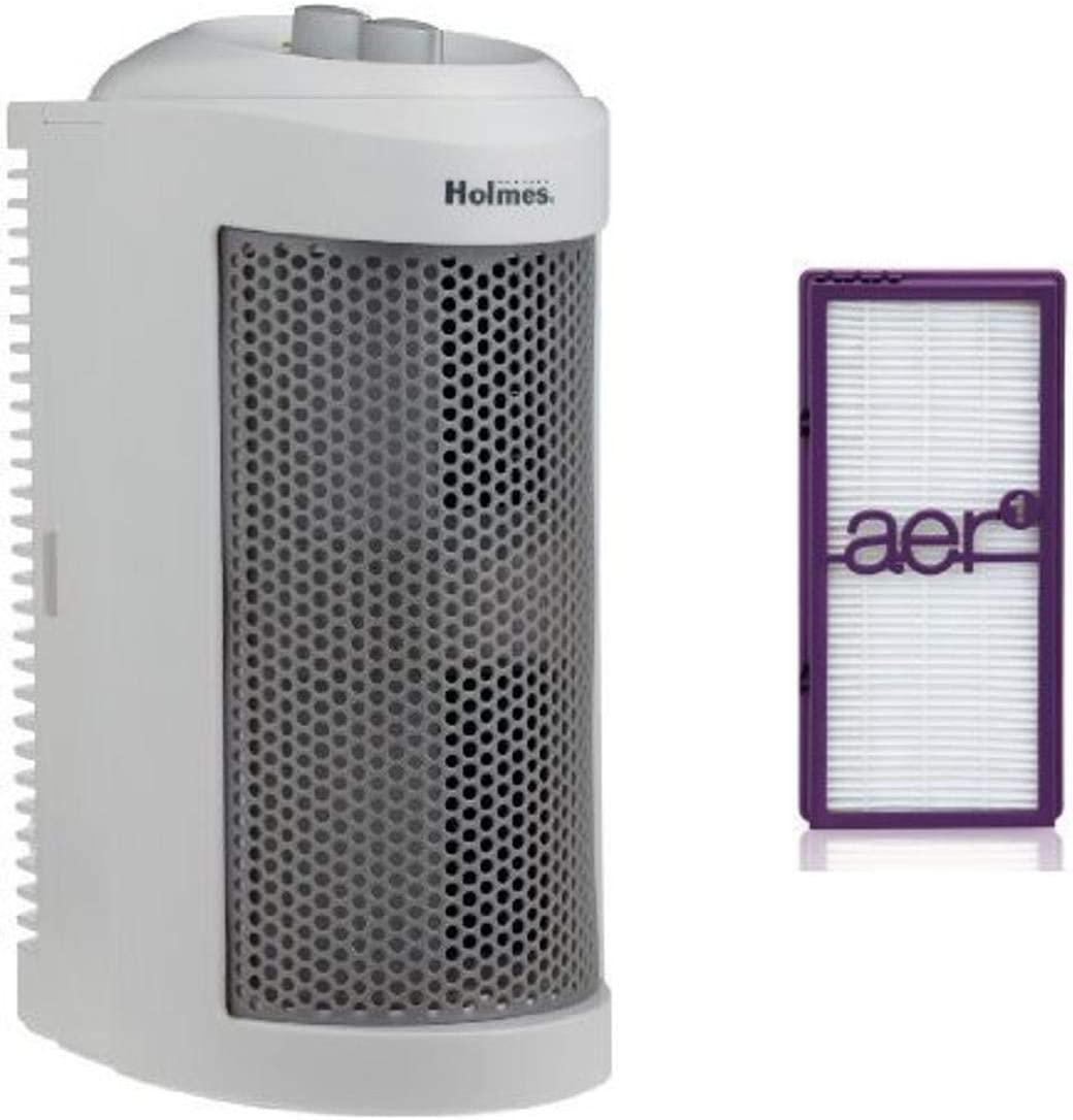 Holmes True HEPA Allergen Remover Mini Tower Air Purifier with Performance Filter