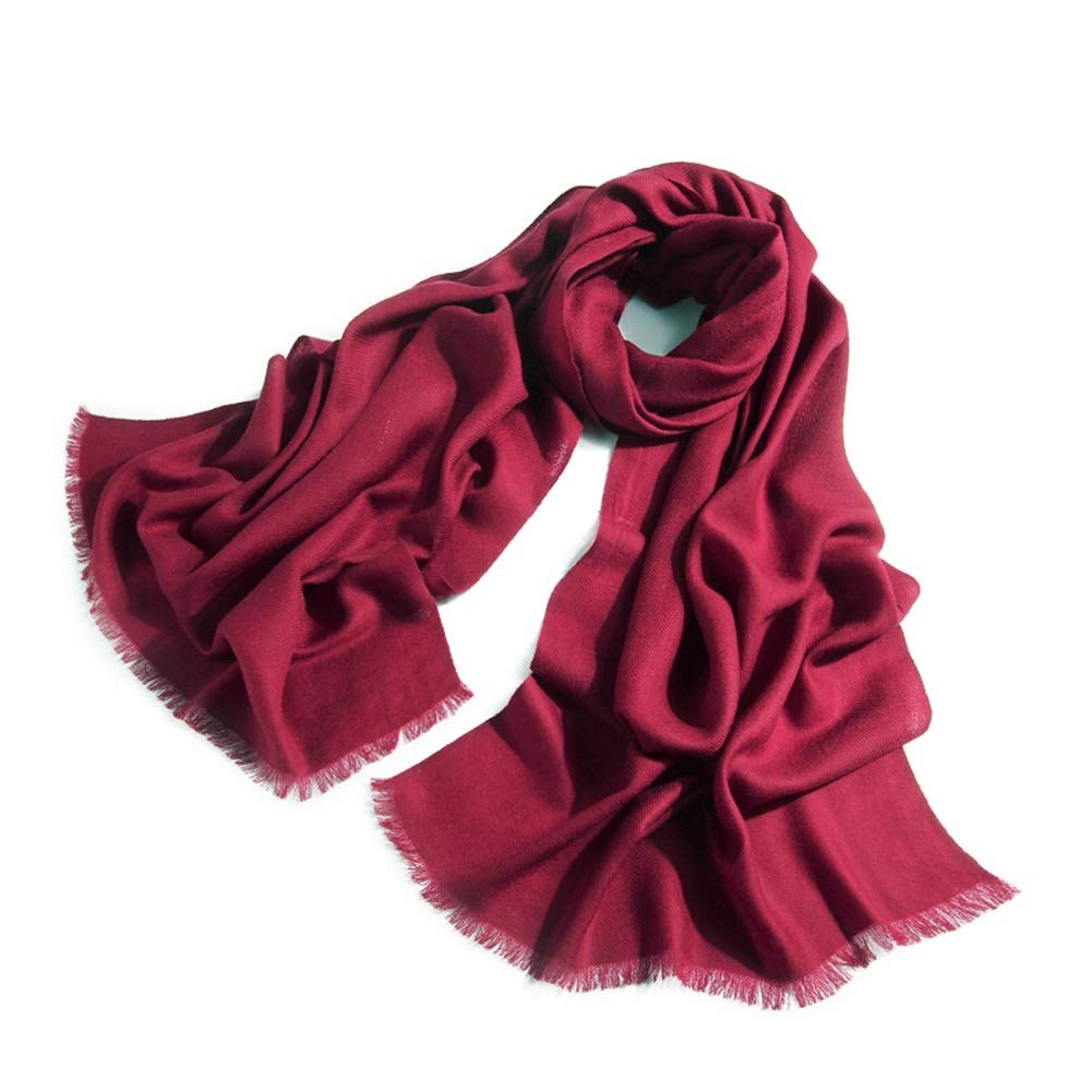 Dark Red Long Scarves Wrap Shawl Long Stole Thick Style Scarf Headscarf Neck Wrap Stole MufflerSolid color Autumn and Winter Warmth and Long Thickening HENGXIAO (color   Light Purple, Size   200  60cm)