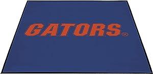Smart Design Collegiate Tailgate Picnic Patio Mat - Outdoor Indoor Rug Carpet - 9 x 9 Feet - University of Florida Team Design - Officially Licensed Logo - Blue & Orange Colors - [Florida Gators]