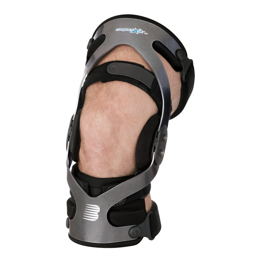 BREG '25450 Brace, Knee, Right, XLarge Ots Siliconized Strap Padding Gel Condyle Pad Over-Sized Tibial Frame with Adjustable Hinge for Osteoarthritis  Compact X2K