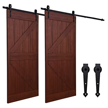 14.5FT/441cm Sliding Barn Wood Door Hardware Closet Track Kit Single Door- Puerta corrediza de granero Hardware Equipo Puerta sencilla: Amazon.es: Bricolaje ...