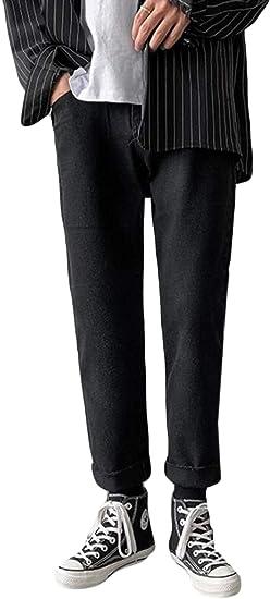 Alppvジーンズ メンズ 秋 冬 デニム メンズ デニムパンツ ロング 裏毛 ロング パンツ ワイド ストレート 厚手 薄手 メンズ パンツ ファッション 韓国風 通勤 通学 カジュアル ボトムス