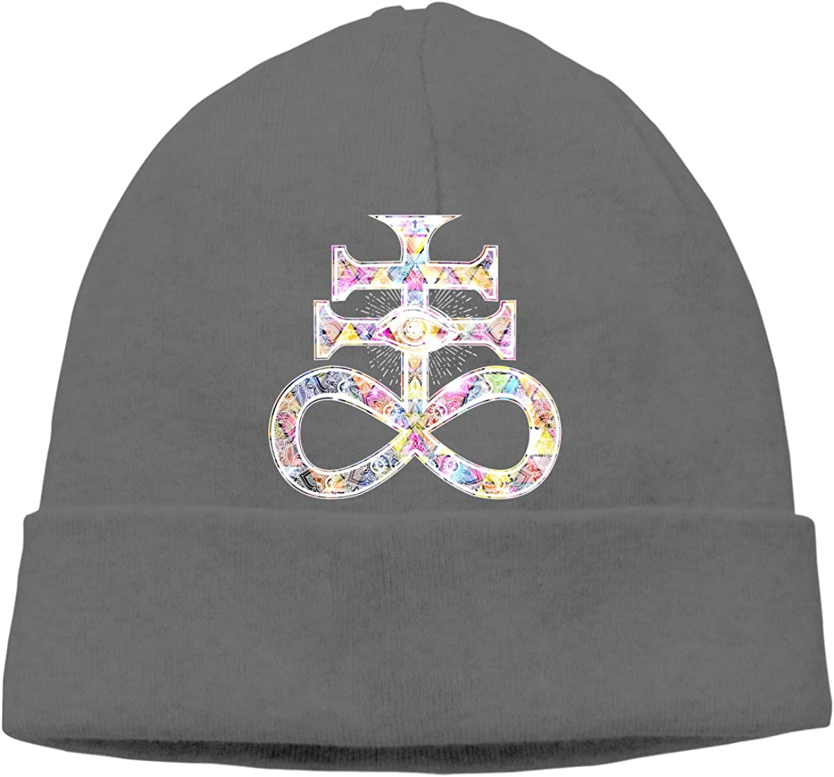 Leviathan Cross Symbol Mens Beanie Cap Skull Cap Winter Warm Knitting Hats.