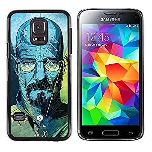 MobileHut / Samsung Galaxy S5 Mini, SM-G800, NOT S5 REGULAR! / Series Original Meth Walter Tv Jesse / Delgado Negro Plástico caso cubierta Shell Armor Funda Case Cover