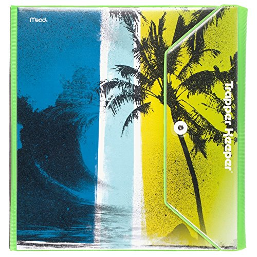 mead-trapper-keeper-round-ring-binder-15-inch-fashion-wave-palm-trees-blue-green-73425