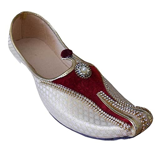 Indian Sherwani Men Shoes Khussa Handmade mojaries Jutti Flat