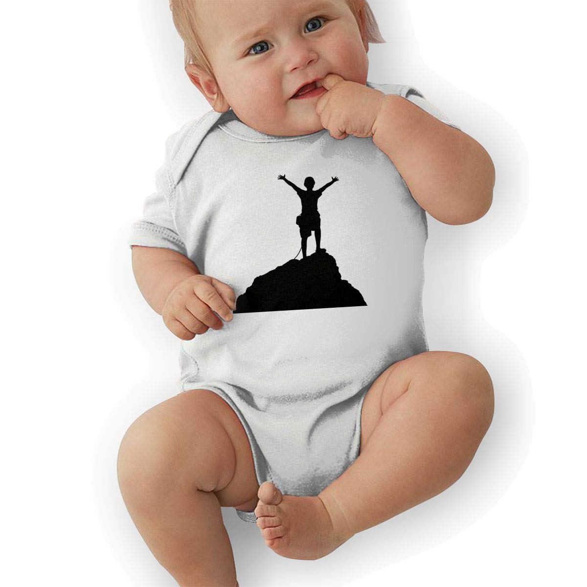 Infant Baby Boys Bodysuit Short-Sleeve Onesie Rock Climbing Print Outfit Summer Pajamas