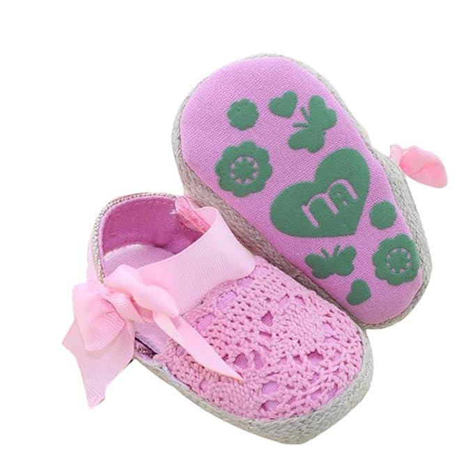 Bebé Prewalker Zapatos ❤️Xinantime ♡Zapatos Bebe♡ primeros pasos para bebé-niñas, Zapatos de flores de encaje, sandalias de bowknot para 0-6 6-12 12-18 ...