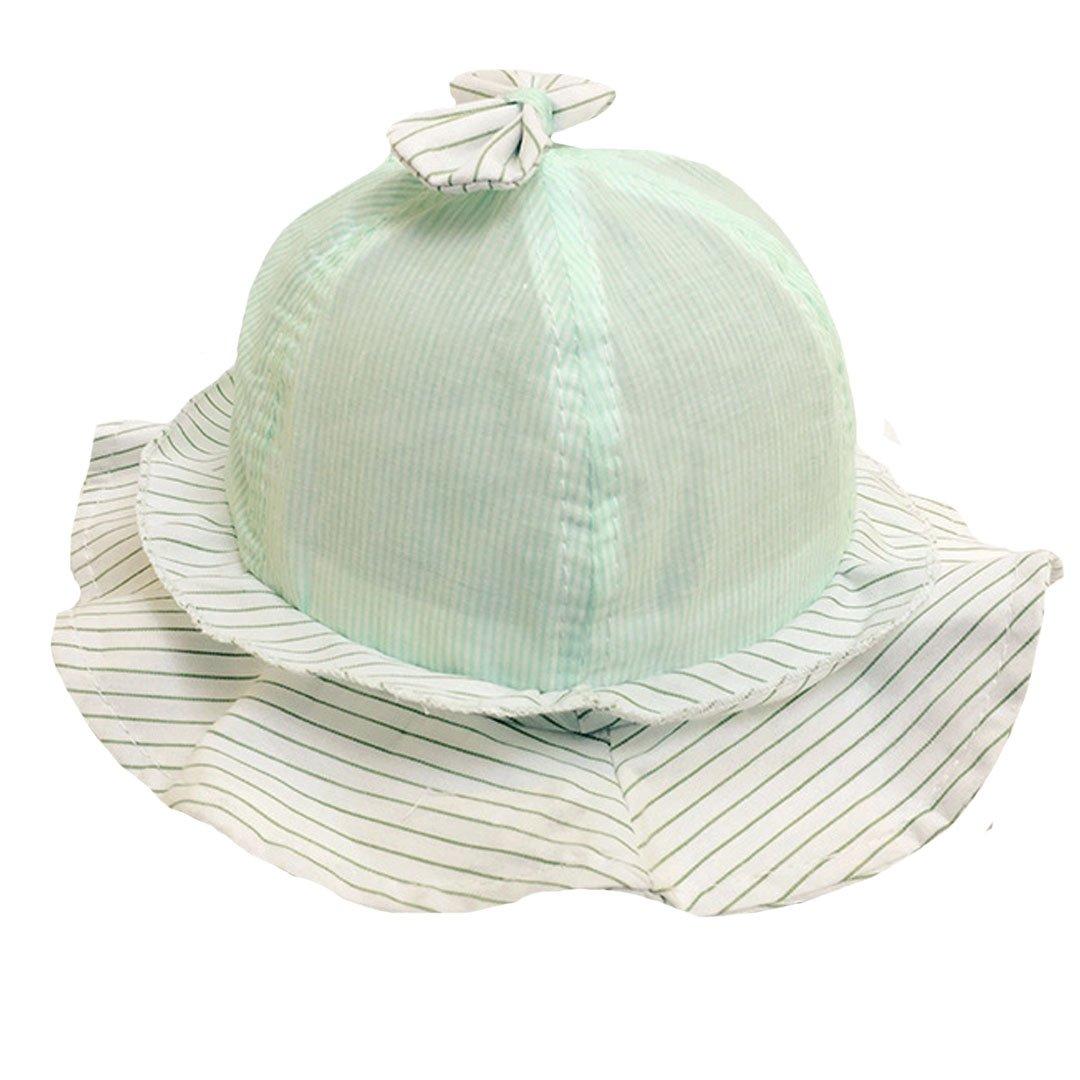 AISI del bebé Bucket Hat Bow Tie algodón sol sombrero tapas Green Stripes