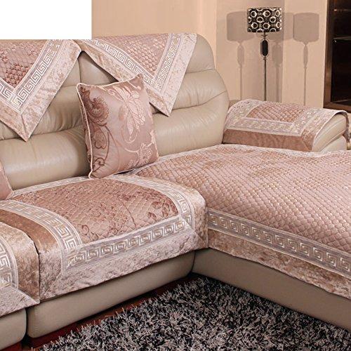 Sofa cushions,fabric short velvet leather sofa non-slip cushion,four ...