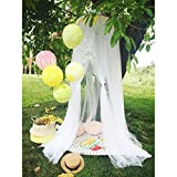 Are There Beds Bigger Than King Size Didihou Mosquito Net Bed Canopy Round Lace Dome Netting Hanging Curtains Princess Play Tent Bedding for Kids Indoor Playing Reading Games House (Yarn White)