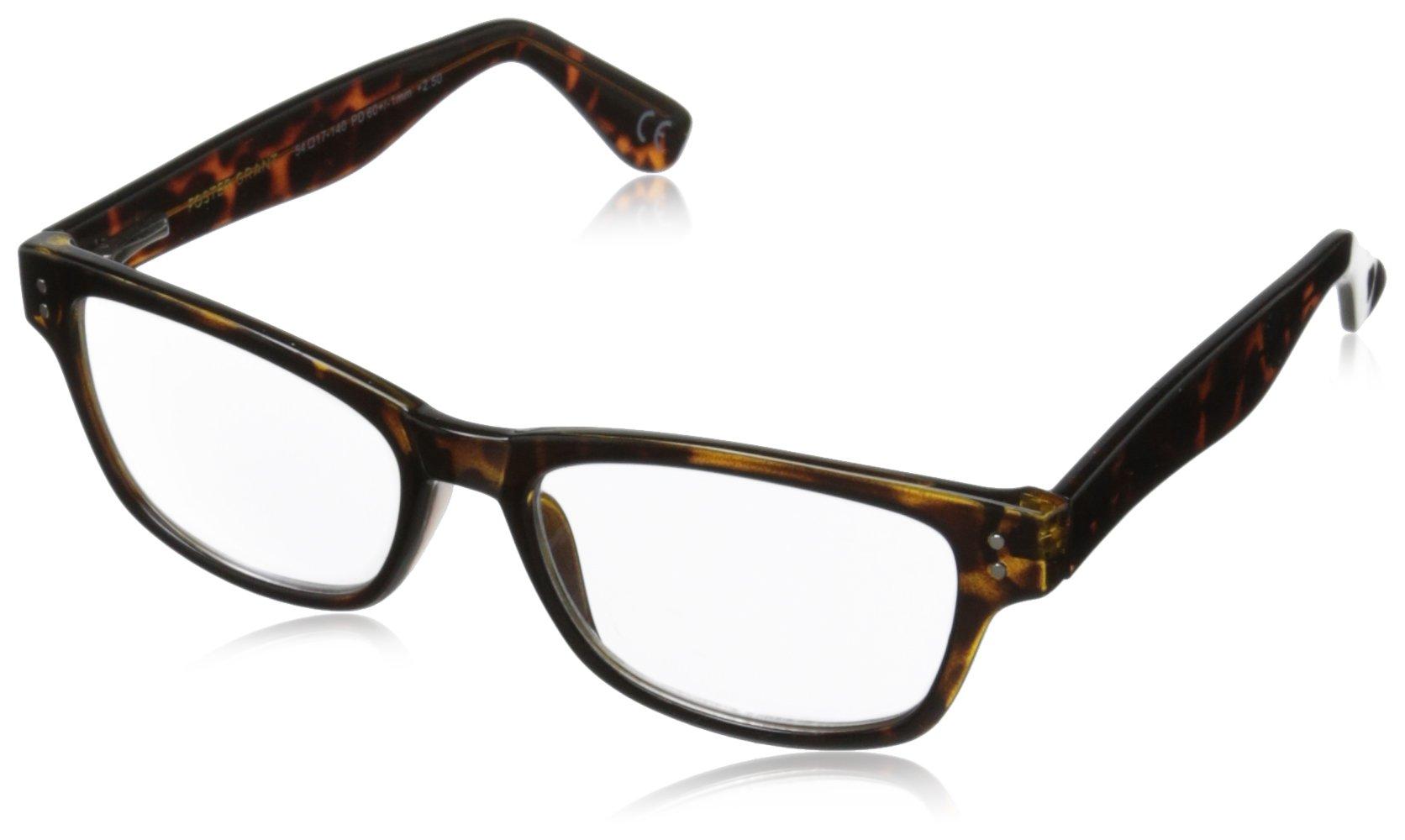 Foster Grant Conan Multifocus Glasses, Tortoise, 1.75