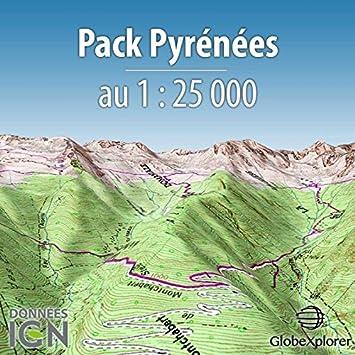 Mapa topográfico de los Pirineos – Pack Pirineos – Francia/España – 1: 25 000: Amazon.es: Deportes y aire libre