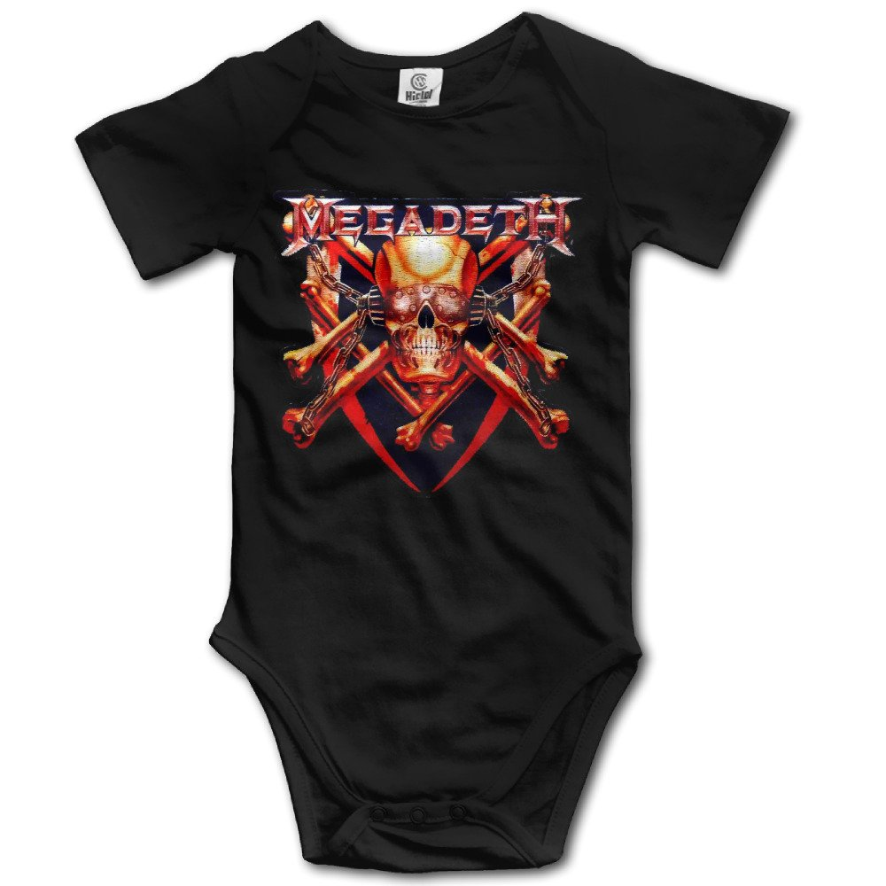 Megadeth Cute Baby Onesie Bodysuit Climb Clothes Romper For Baby Boys