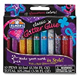 #9: Elmer's 3D Washable Glitter Glue Pens, Classic Rainbow, Pack of 10 Pens (E199) - Great For Making Slime