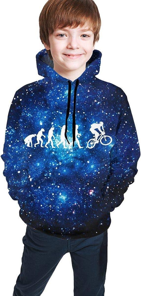 MAOYI/&J6 Evolution Mountain Bike Youth Boys Girls Long Sleeve Hoodie Pullover for Winter Sweatshirt