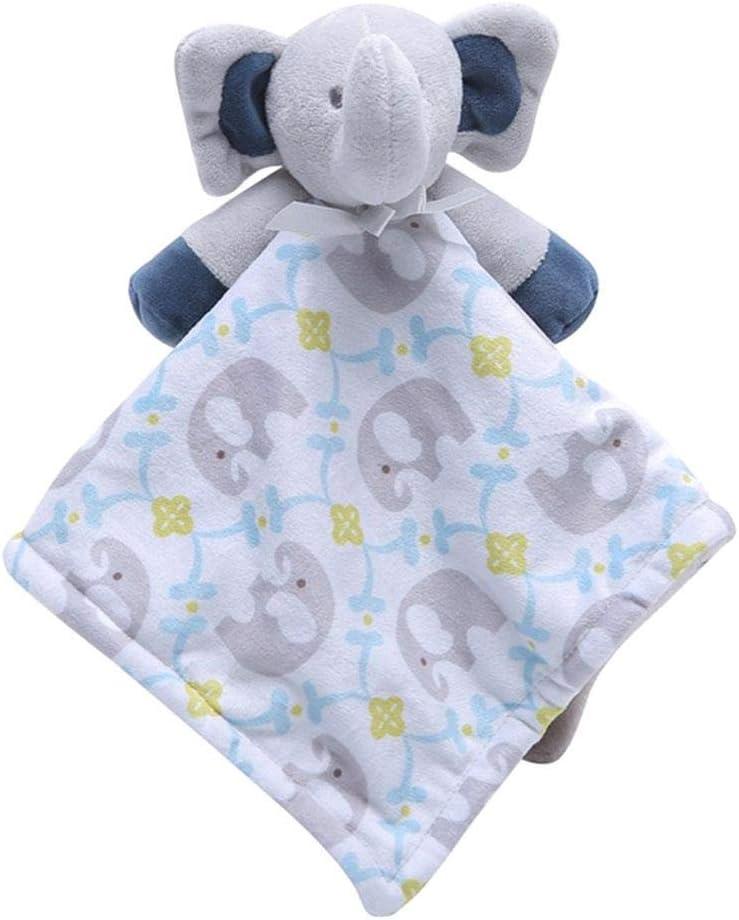 Manta de seguridad para beb/é, 0-36 meses manta de seguridad para confort de beb/é manta de dormir relajante toalla para beb/és toalla de saliva Elephant