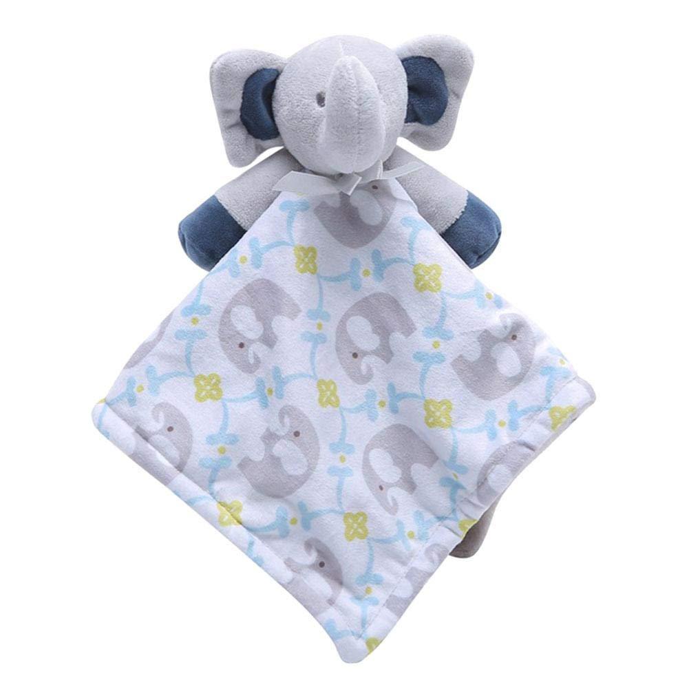 suave toalla de toalla de atenci/ón con animales de peluche para beb/é,Doudou beb/é Peluche Mantitas de arrullo Manta de seguridad dise/ño Manta de seguridad para beb/é