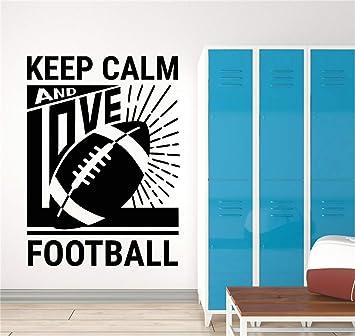pegatina de pared frases Mantenga la calma y ame el fútbol Cita ...