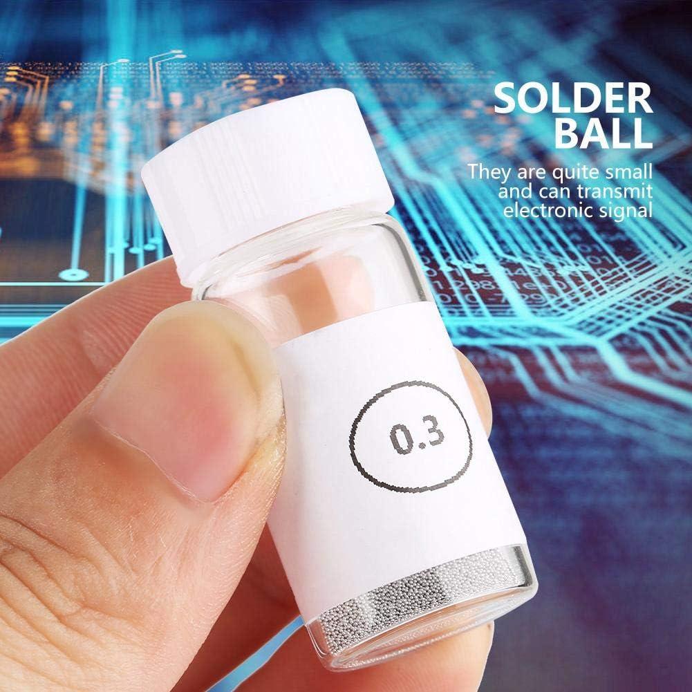 Bolas de soldadura de esta/ño Bolas de stencil universales de calor de soldadura de recuperaci/ón de plomo BGA para GPU CPU IC Chip 0.3mm