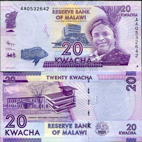 Malawi 20 Kwacha Uncirculated Note