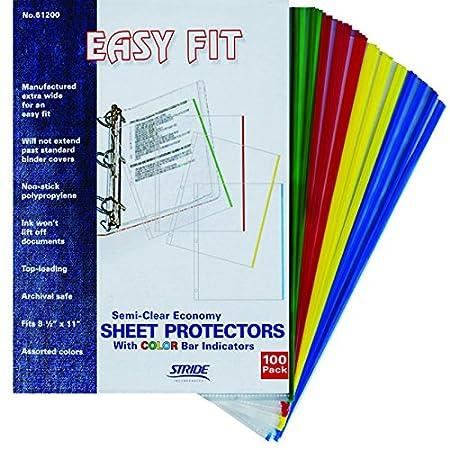 Stride EasyFit Color Bar Sheet Protectors, 11 x 17, Landscape Orientation, Box of 60 (61400) 11 x 17 Stride Inc.