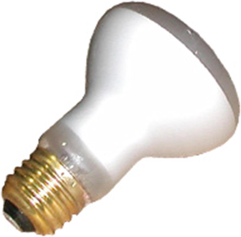 10 Qty. Halco 100W R20 FL 125V Halco SHORT R20FL100/S 100w 125v Incandescent Flood Short Halco Lamp Bulb