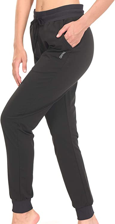 TAIBID Womens Active Jogger Sweatpants Cotton Workout Lounge Pants Track Cuff Sweat Pants Pockets