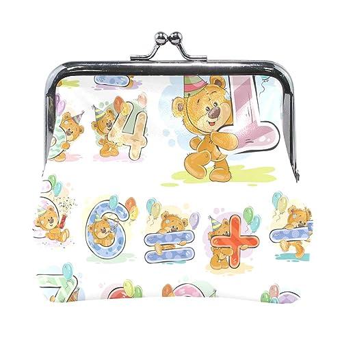 Amazon.com: AJINGA - Monedero de peluche con números de oso ...