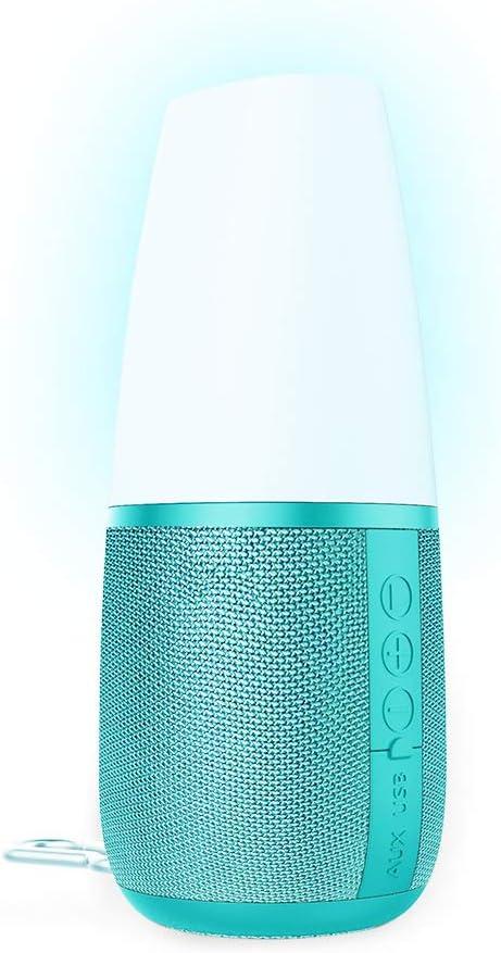 Portable Wireless Bluetooth Speaker,Handsfree//Phone//MicroSD//Supported,Blue Night Light Bluetooth Speaker