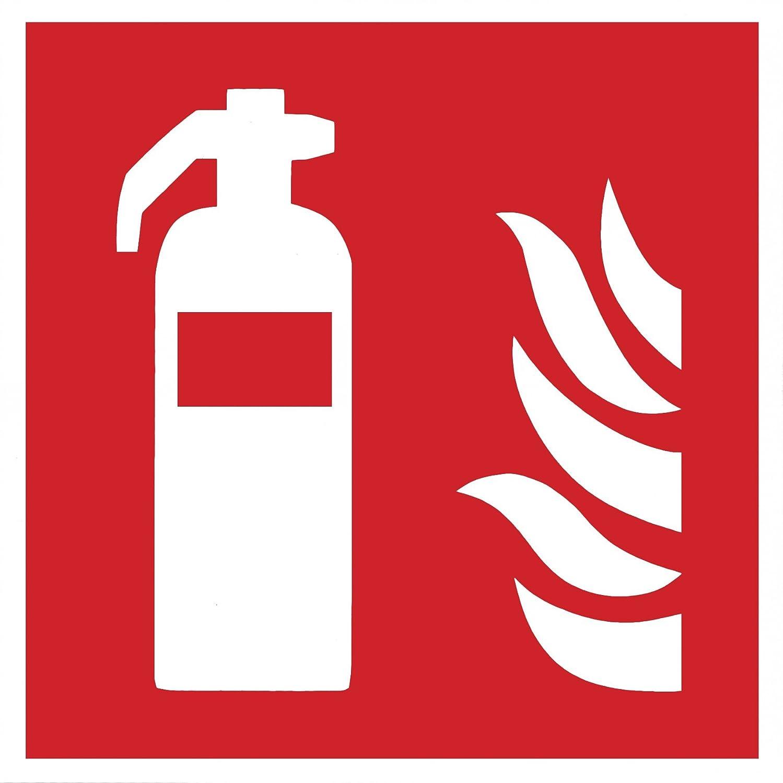 Brandschutzzeichen Symbolschild Feuerlö scher ISO Folie selbstklebend 100x100mm Andris