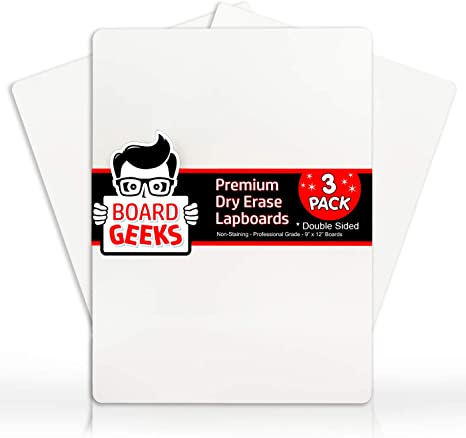 Dry Erase Lapboards   9 x 12 inch Large Whiteboard Set   for Teacher, Student, Children, Classroom