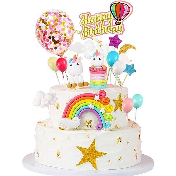 Rainbow Cloud Cake Topper Dessert Decoration Baby Birthday Cake Top Flags UK