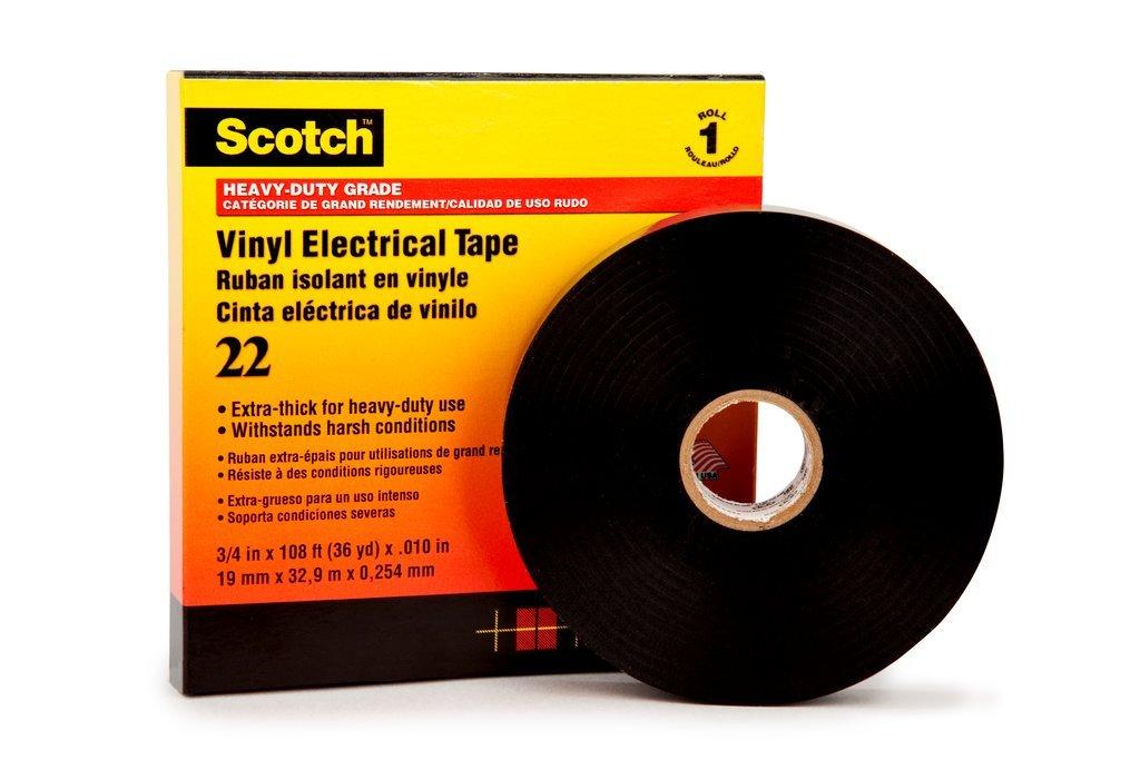 Scotch Heavy Duty Vinyl Electrical Tape 22 1 in x 36 yd 3M 80012017051