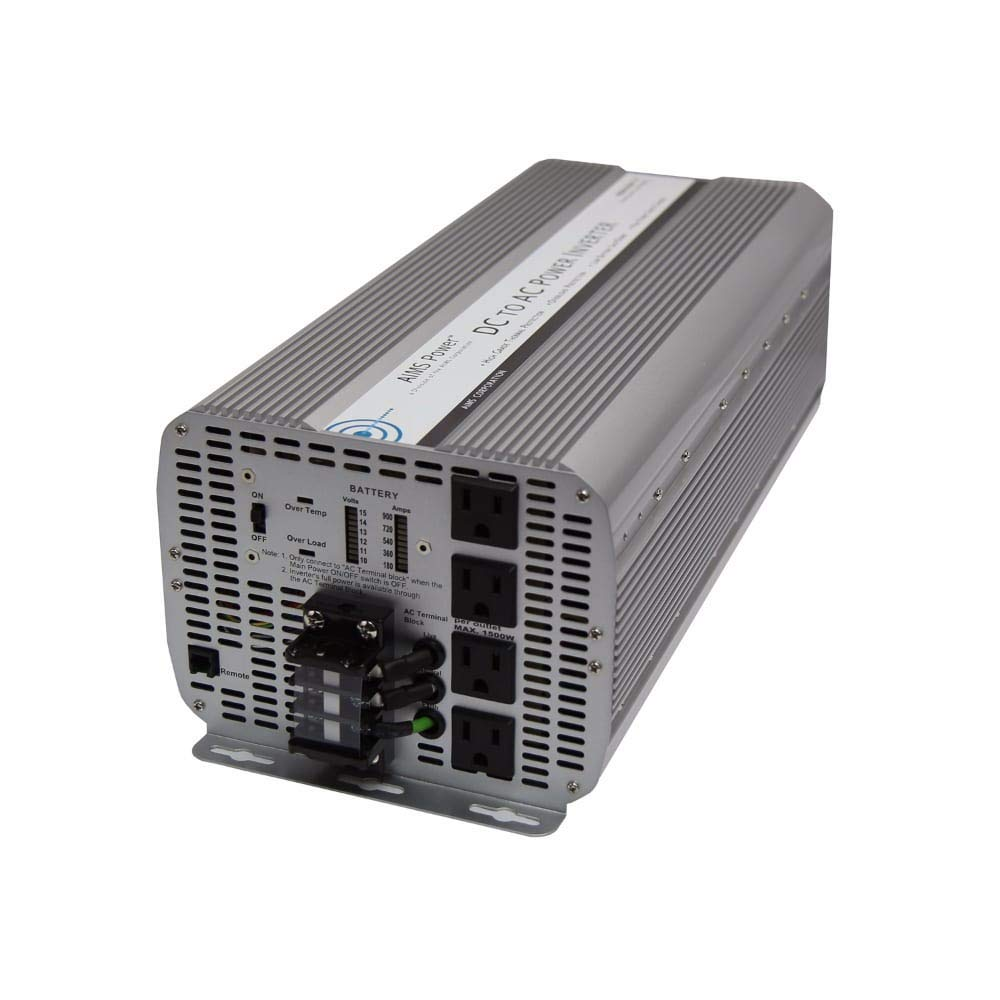 AIMS Power 8000 Watt 12 VDC to 120 VAC Modified Sine Power Inverter by AIMS Power