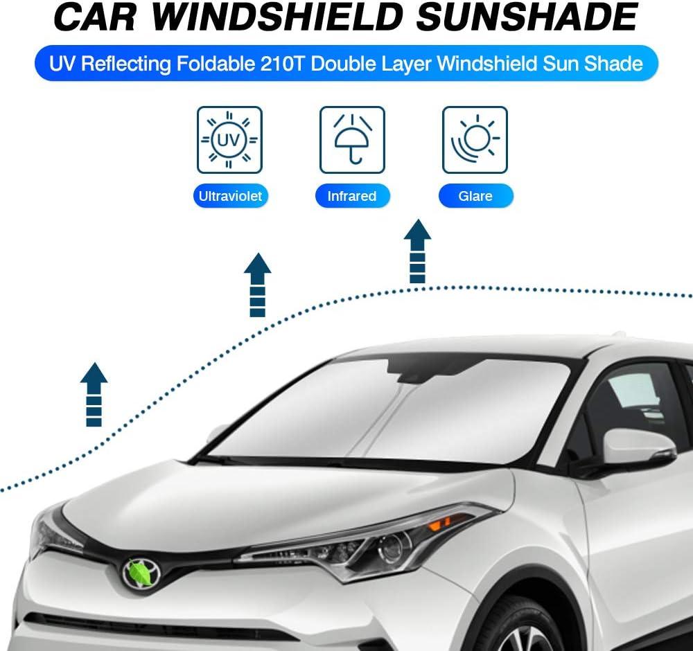 KUST Windshield Sun Shade for 2017-2020 2021 Toyota CHR SUV CH-R Sunshade Foldable Sun Visor Protector Blocks UV Rays Keep Your Car Cooler