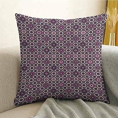 FreeKite - Funda de almohada con estampado de mandala morada ...
