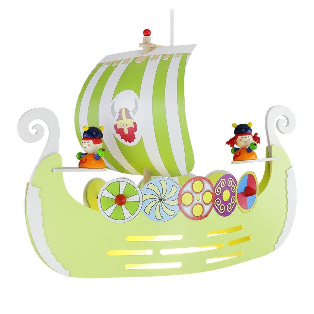 Wikingerschiff 1er Pendellampe elobra 125700, Farbe:lime