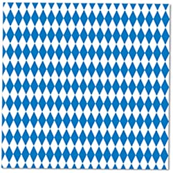 Blue & White Luncheon Napkins (2-Ply) (16/Pkg)
