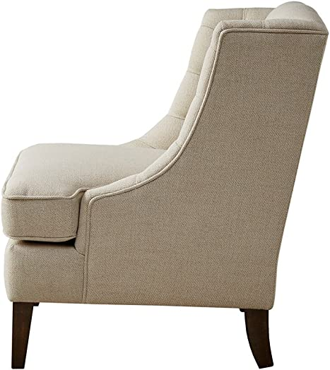 Madison Park Sawyer Button Tufted Accent Chair Cream See Below