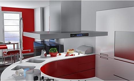 Anself Isla Campana De Cocina Con Pantalla De LCD: Amazon.es: Hogar