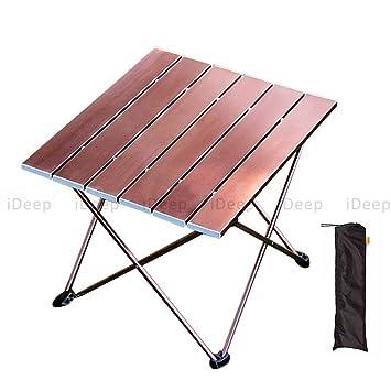 Plegable Campamento Mesa, ideep enrollable mesa mesa plegable mesa ...