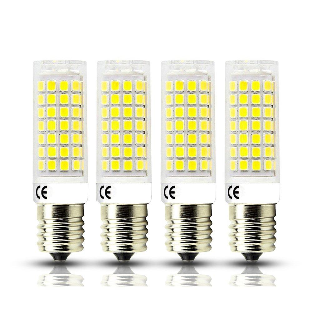 Bonlux Dimmable Intermediate Base E17 LED Microwave Oven Appliance Light Bulb 7W (60W Halogen Bulb Equivalent) 120V Daylight 6000K (Pack of 4)