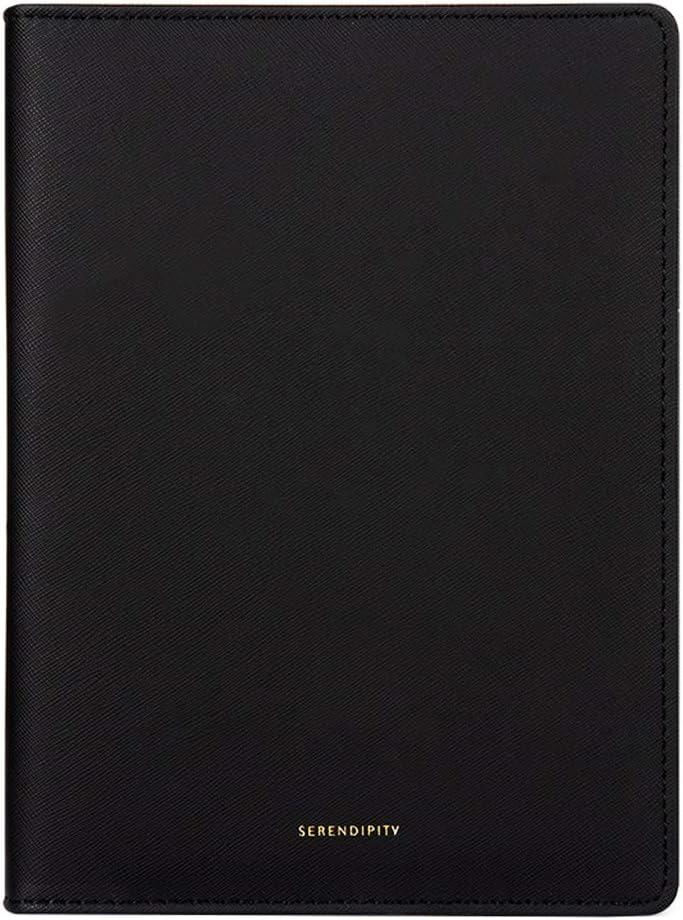 A5ルーズリーフノート100シート厚みの水平ラインノートブックビジネスステーショナリージャーナル文房具スケッチブックハンドブック (Color : Black)