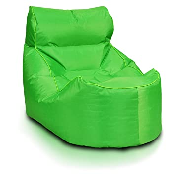 Turbo BeanBags Boat Style Bean Bag Chair, Large, Green