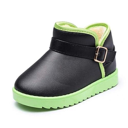 Botas de Nieve de Invierno para niños Botas de algodón de Felpa cálidas Chicos, niñas, niños pequeños, Ligeras, Botines Casuales: Amazon.es: Zapatos y ...