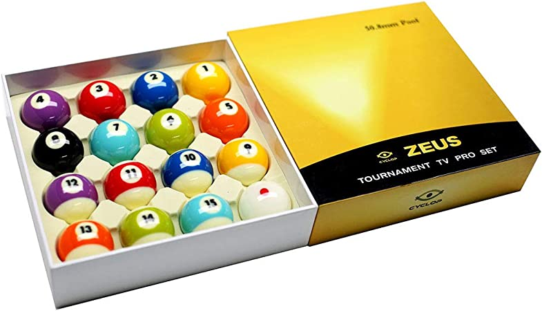 Cyclop Juego Bolas Pool English Zeus Tournament Pro Ball Set 50. 80mm: Amazon.es: Deportes y aire libre
