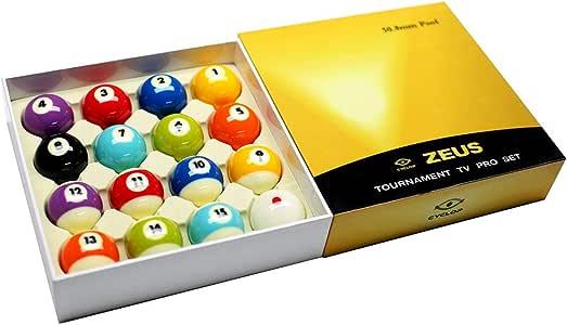 Cyclop Juego Bolas Pool English Zeus Tournament Pro Ball Set 50. 80mm: Amazon.es: Deportes y aire libre